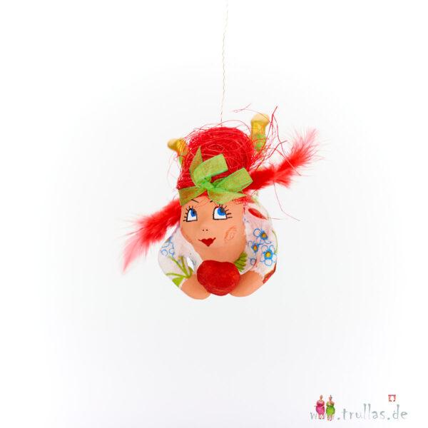 Schutzengelchen - Jule ist eine handgefertigte Figur aus Pappmachee. Trullas sind Geschenkideen fur Menschen die handgemachte Kunst schätzen.