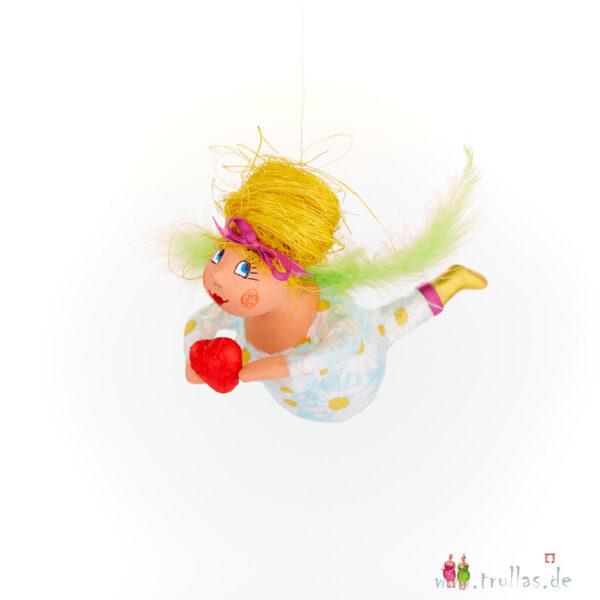Schutzengelchen - Juna ist eine handgefertigte Figur aus Pappmachee. Trullas sind Geschenkideen fur Menschen die handgemachte Kunst schätzen.